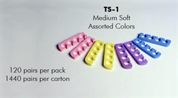 Picture of Apollo Beauty - TS1 Solid Color Medium Hard Toe Separators (100 Pairs/pk)