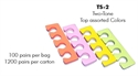 Picture of Apollo Beauty - TS2 Two-Tone Assorted Colors Toe Separator (100 Pairs/pk)