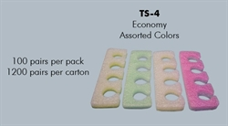 Picture of Apollo Beauty - TS4 Assorted Colors Economy Toe Separator (100 Pairs/pk)
