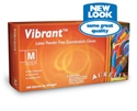 Picture of Vibrant Gloves - 98227 Gloves Powder Free Latex Medium 100/Box