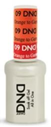 Picture of DND MOOD CHANGE GEL  - DND09 Orange to Garnet Orange 0.5oz