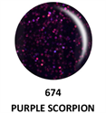 Picture of DND GEL DUO - DND674 Purple Scorpion